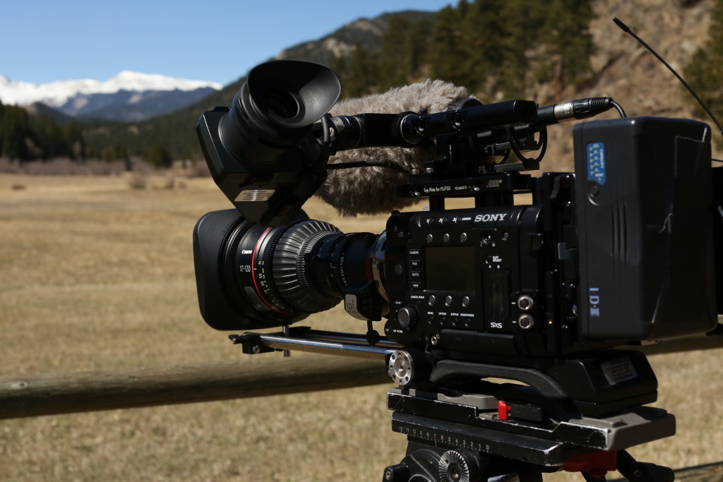 Sony F55 outside on a shoot.