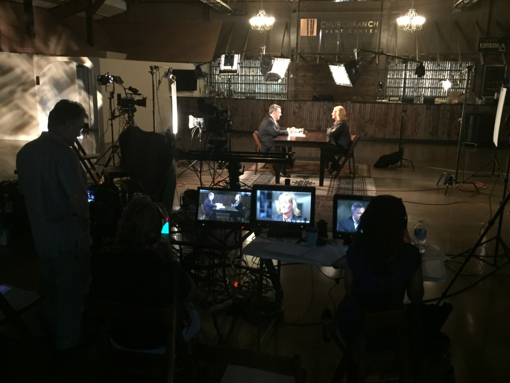 Dateline's Josh Mankiewicz does an interview for the recent special about Jan Benet Ramsey.