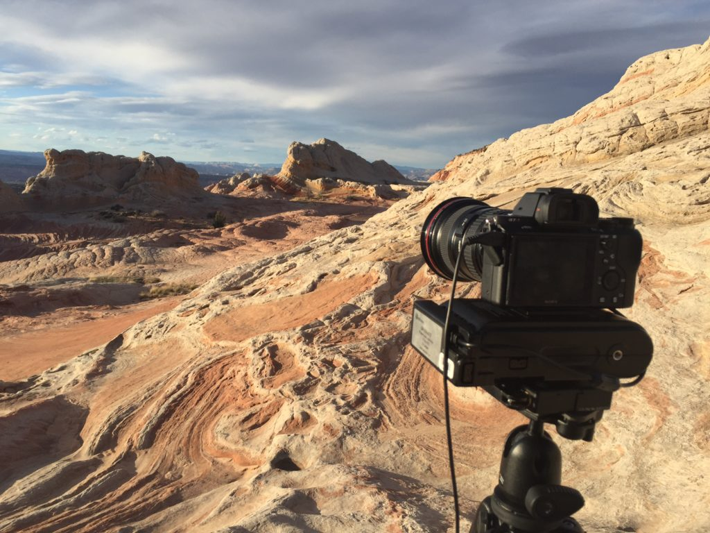 desert time lapse set up